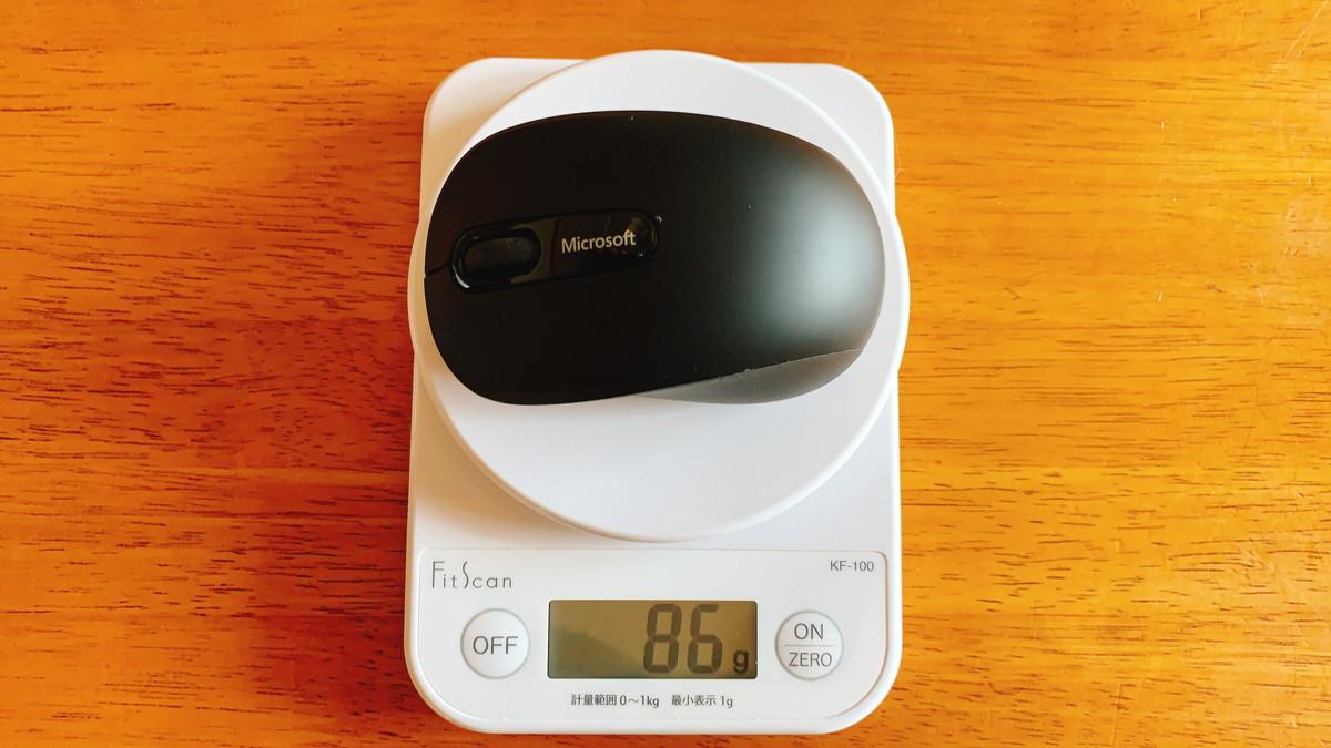 Bluetoothモバイルマウス3600の重さ