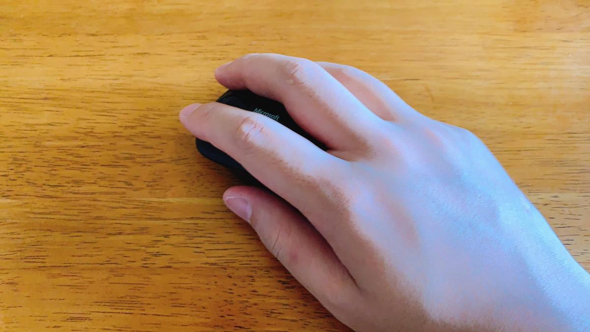 Bluetoothモバイルマウス3600はかぶせ持ち