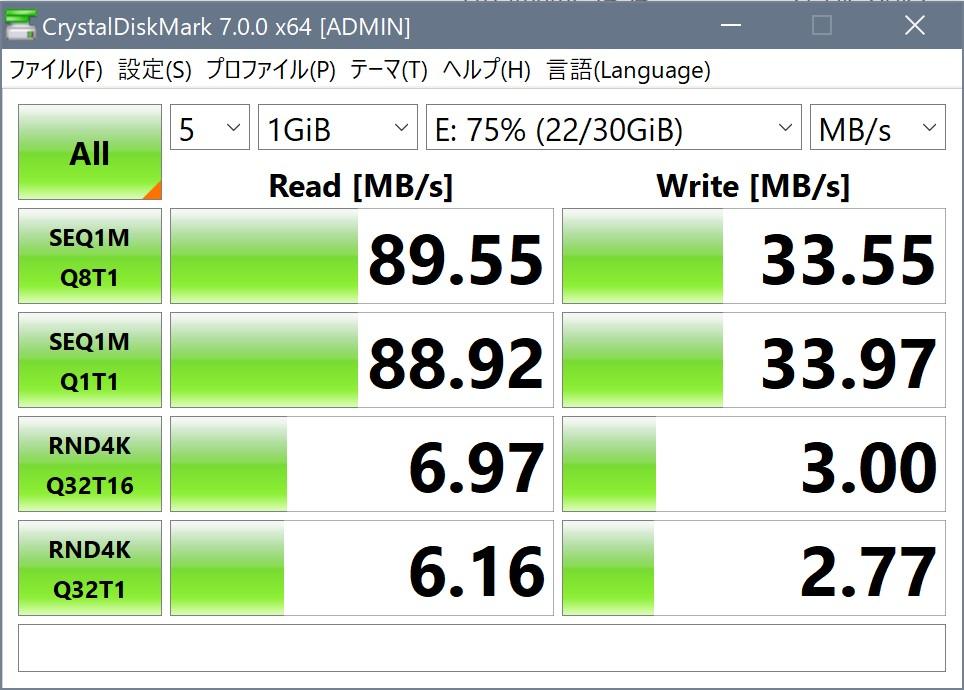PowerExpand+メディアハブのSD転送速度